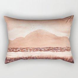 Monochromatic Landscape Painting Rectangular Pillow