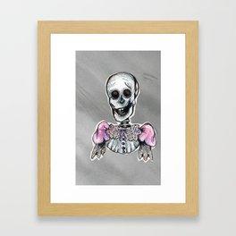 Dandy Skeleton Framed Art Print