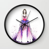 sparkle Wall Clocks featuring Sparkle by Tania Santos
