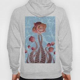 Octopus Tentacles and Roses in Water Surreal Print Hoody