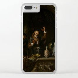 "Gerard Dou ""The Doctor"" Clear iPhone Case"