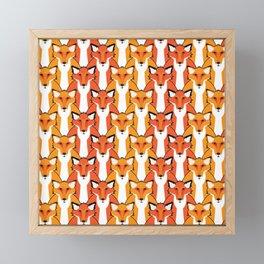 Autumn Foxes Framed Mini Art Print