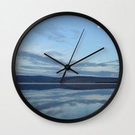 Klamath Lake reflecting clouds Wall Clock