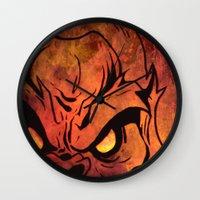 sasquatch Wall Clocks featuring Sasquatch by Laurelle Armet