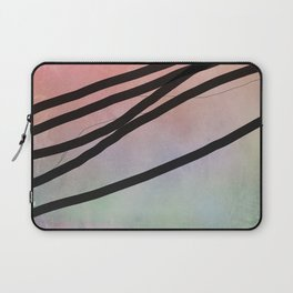 Pink Abstract with Lines - Pastel Laptop Sleeve