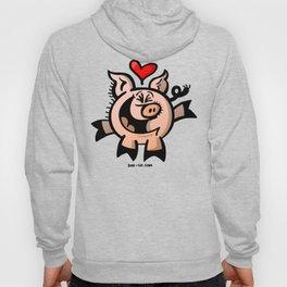 Pig Falling Head over Heels in Love Hoody
