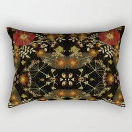 Dark Floral Roses Rectangular Pillow