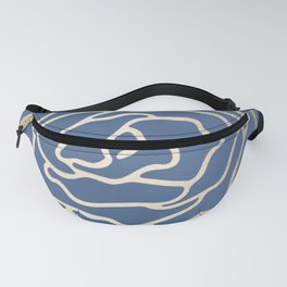 Flower in White Gold Sands on Aegean Blue Fanny Pack