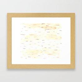 Birch Bark Watercolor Framed Art Print