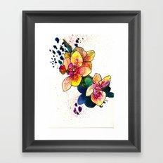 Inky Orchid Framed Art Print