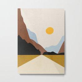 Minimal Art Landscape 9 Metal Print