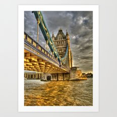 Sunset at Tower Bridge Art Print