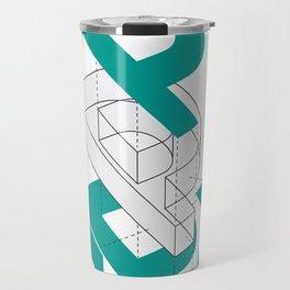 Exploded P Travel Mug