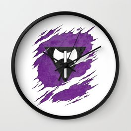 Lesbian Labrys Pride Flag Ripped Reveal Wall Clock