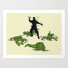 The Real Ninja Part 1 Art Print