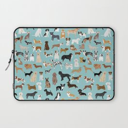 Dogs pattern print must have gifts for dog person mint dog breeds Laptop Sleeve