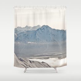 Talkeetna Mountains and Twin Peaks Shower Curtain