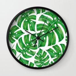 MONSTERA GREEN Wall Clock