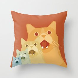 Shock and Awww Throw Pillow