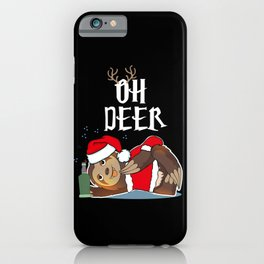 Sloth Christmas Lazy Humor Chill Zoo Animal Gift iPhone Case