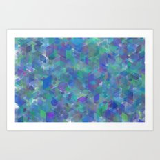 Panelscape + circles  - #1 society6 custom generation Art Print