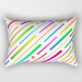 Colorful abstract geometric pattern #boho Rectangular Pillow
