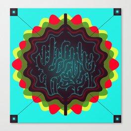 MAGIC CACTUS BADGE OF HONOR / [06.7.13.]  Canvas Print