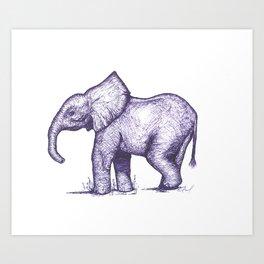 Bae Elephant Art Print