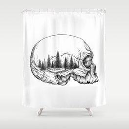 SKULL/FOREST Shower Curtain