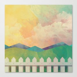 Watercolor Farm Canvas Print