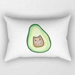 AvoCato Avocado Cat Print Rectangular Pillow