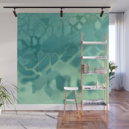 future fantasy turquoise Wall Mural