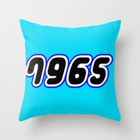 millenium falcon Throw Pillows featuring 7965 [MILLENIUM FALCON] in Brick Font Logo Design [Alternate Colors] by Chillee Wilson by Chillee Wilson [Customize My Minifig]