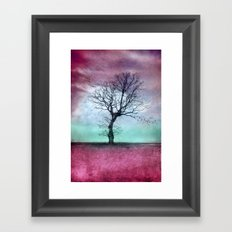 ATMOSPHERIC TREE - Winter Sun Framed Art Print