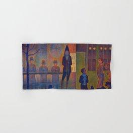 """Georges Seurat """"Circus Sideshow (Parade de cirque)"""" Hand & Bath Towel"""