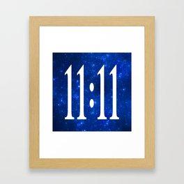 11:11 Framed Art Print