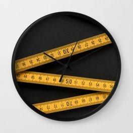Yellow Folding Ruler Wall Clock