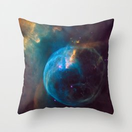 picture of star by Hubble : bubble nebula Throw Pillow