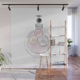 Floral Perfume Wall Mural