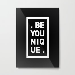 YOU AND YOURSELF (BLK) Metal Print