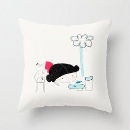 What the rain brings Throw Pillow