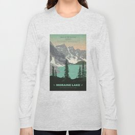 Moraine Lake Poster Long Sleeve T-shirt