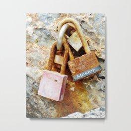 Rusty locks Metal Print
