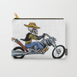 skull ride a big motorcycle Carry-All Pouch