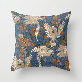 Cockatoos and Pomegranates 2 - Walter Crane Throw Pillow