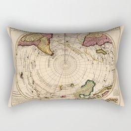 Map of the Southern Hemisphere (c1750) Rectangular Pillow