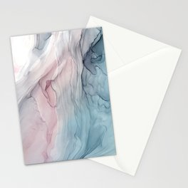 Calming Pastel Flow- Blush, grey and blue Stationery Cards