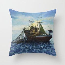 Fishing 5 Throw Pillow