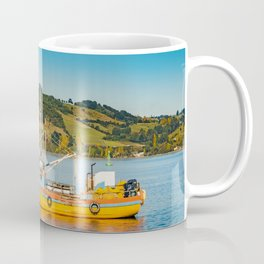 Fishing Boat at Lake, Chiloe, Chile Coffee Mug