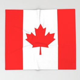 Flag of Canada - Authentic High Quality image Throw Blanket